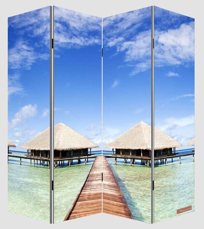 foto paravent paravent raumteiler trennwand m68 180x160cm strand. Black Bedroom Furniture Sets. Home Design Ideas
