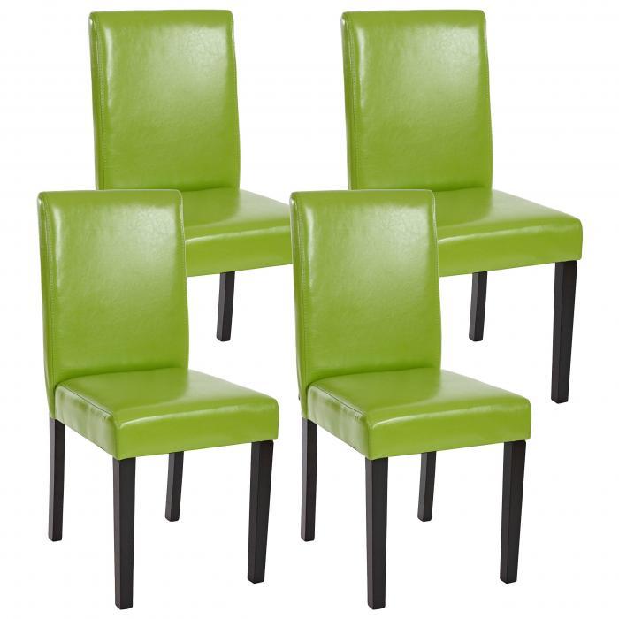 Stuhl Beine Küchenstuhl Littau 4x Esszimmerstuhl Kunstledergründunkle ~ IYb7yvm6fg