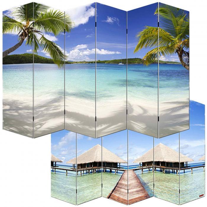 foto paravent paravent raumteiler trennwand m68 180x240cm strand. Black Bedroom Furniture Sets. Home Design Ideas