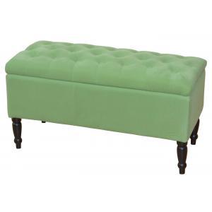 sitzbank h31 polsterbank bank stoffbezug mit stauraum 47x90x40cm samtgr n. Black Bedroom Furniture Sets. Home Design Ideas