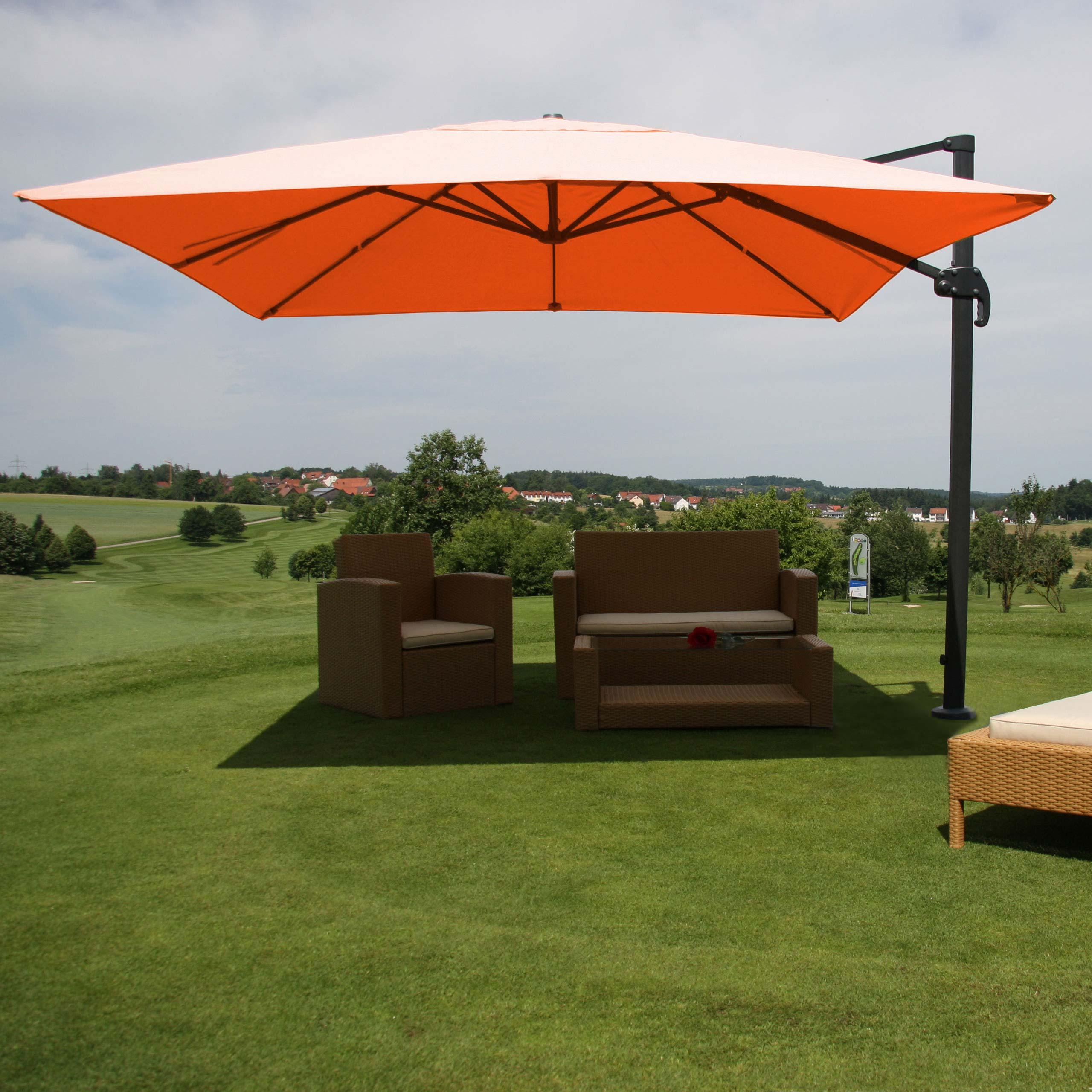 gastronomie luxus sonnenschirm ampelschirm n22 terracotta. Black Bedroom Furniture Sets. Home Design Ideas