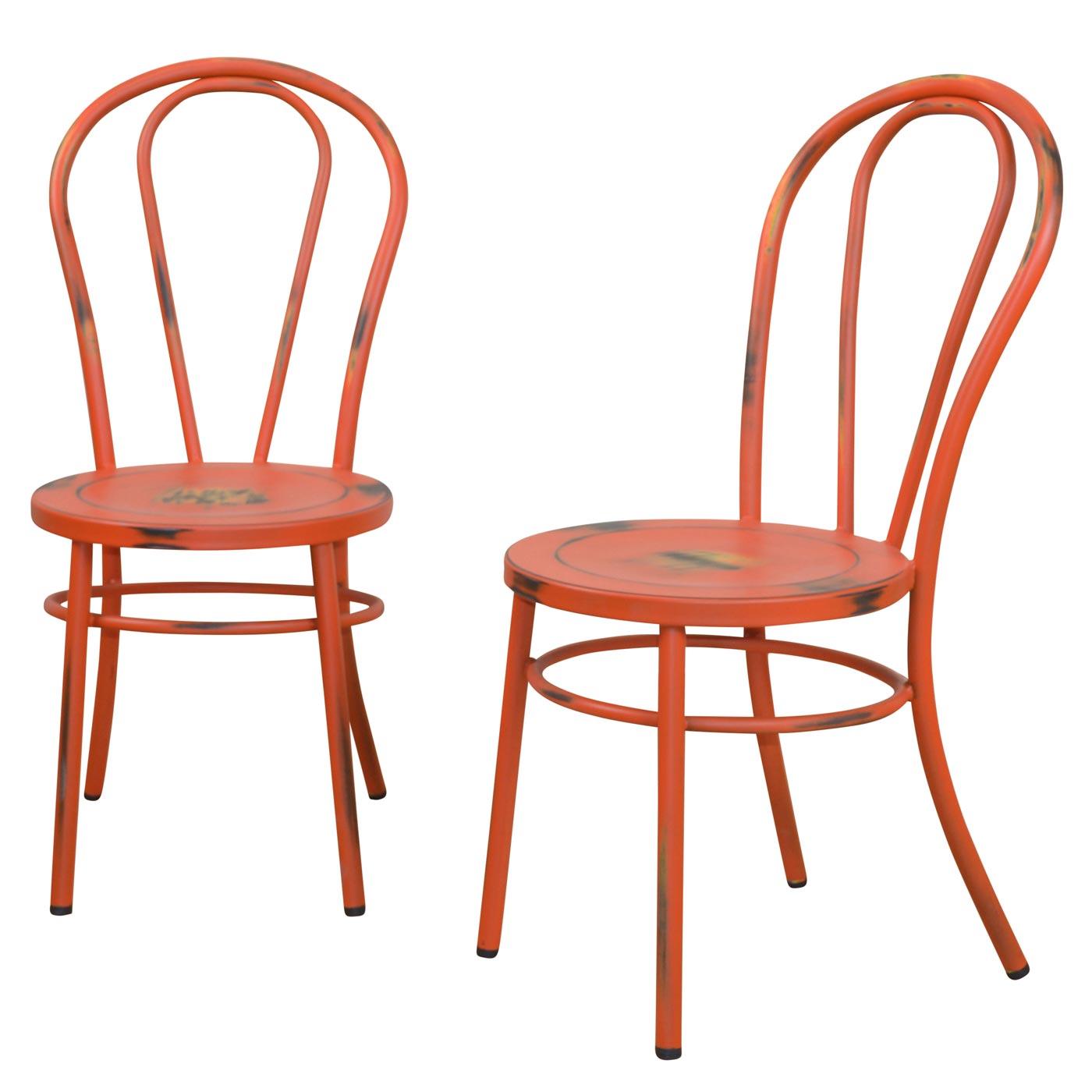 Liebenswert Metall Stuhl Ideen Von 2x Esszimmerstuhl H160, Lehnstuhl Metallstuhl, Shabby Look,