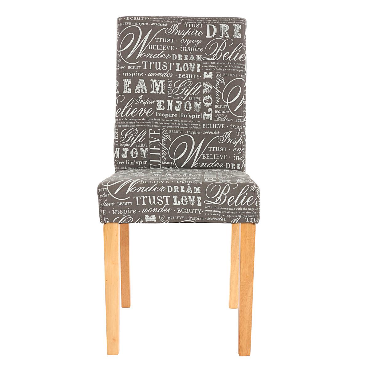 4x Esszimmerstuhl Stuhl Lehnstuhl Littau Textil Mit Schriftzug