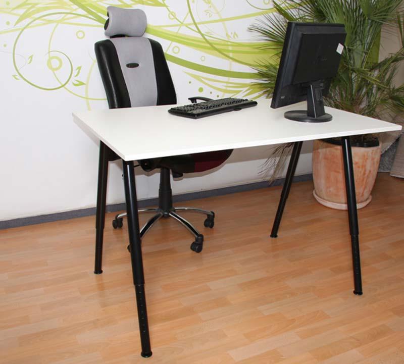 schreibtisch arbeitstisch tisch h henverstellbar. Black Bedroom Furniture Sets. Home Design Ideas