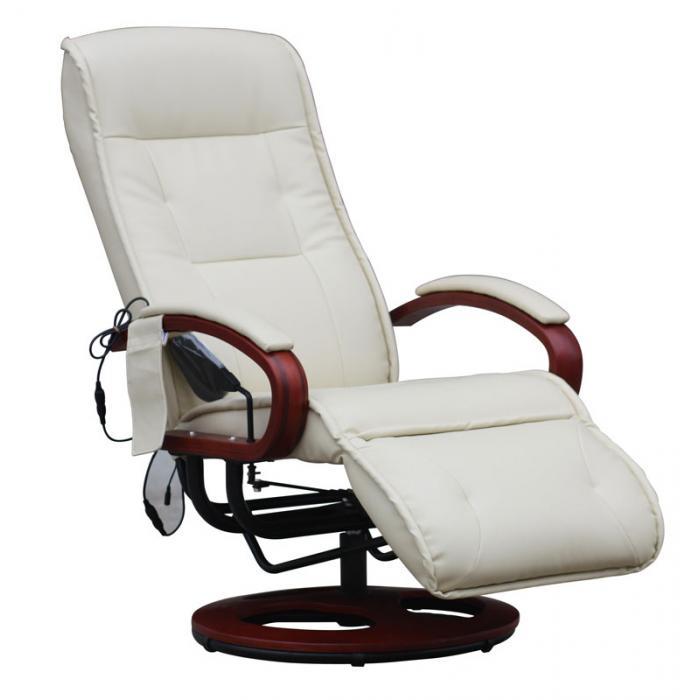 relaxliege arles ii relaxsessel mit massage massagesessel leder creme. Black Bedroom Furniture Sets. Home Design Ideas