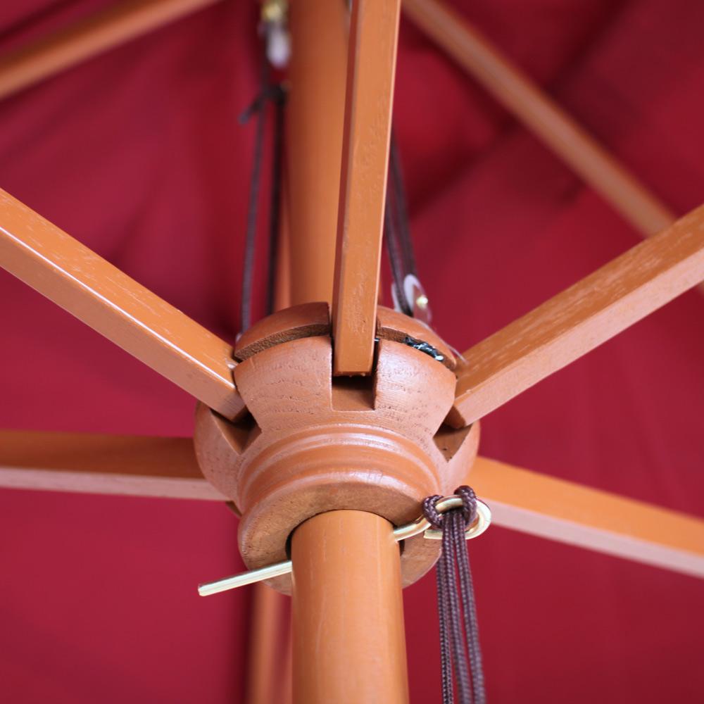 Relativ Holz-Sonnenschirm Florida, rechteckig 2x3m, creme, bordeaux  EB52