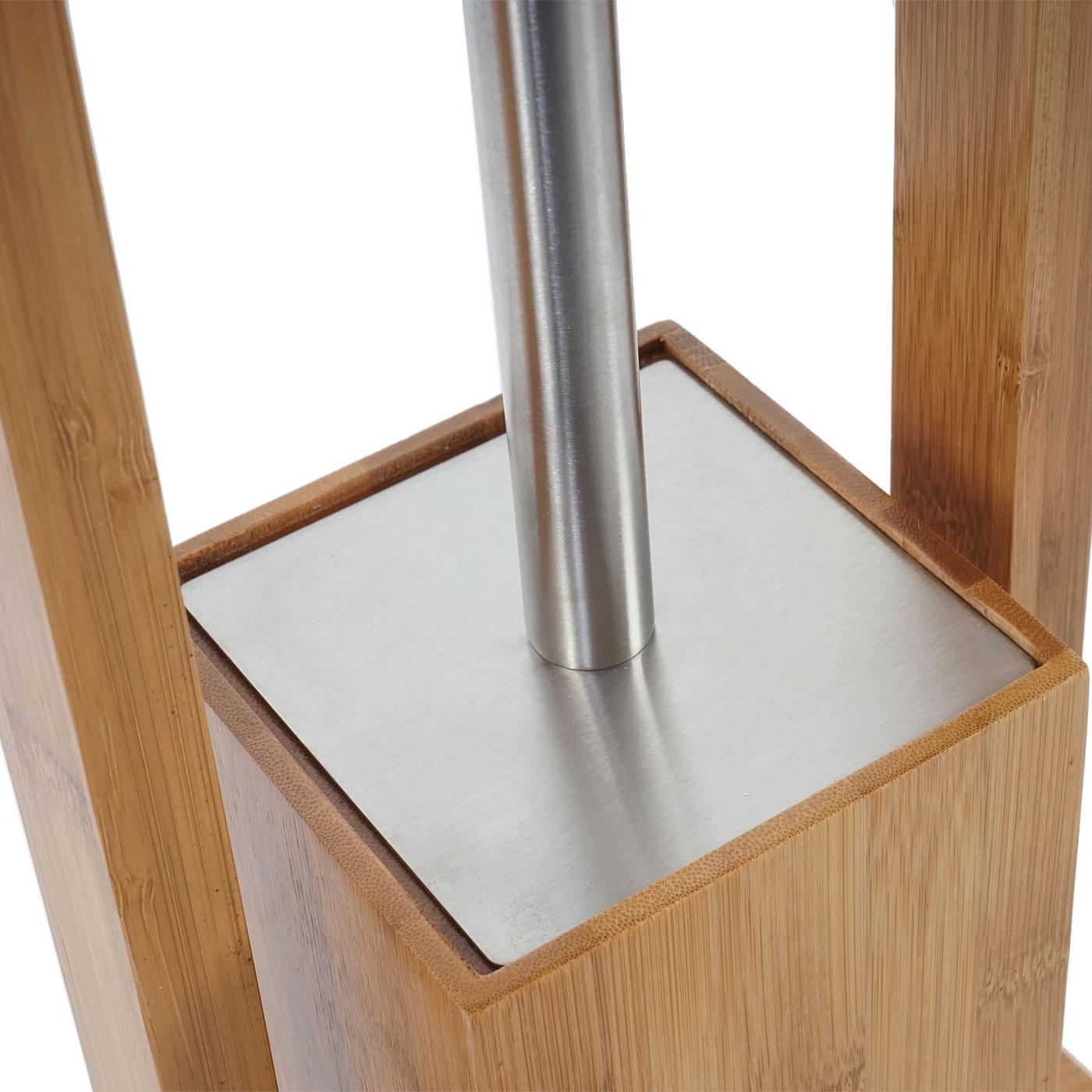 wc papierhalter klopapierhalter toilettenrollenhalter toilettenb rste bambus 4260224682376 ebay. Black Bedroom Furniture Sets. Home Design Ideas