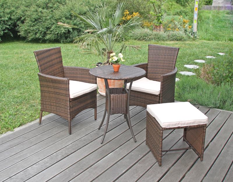 2x gartensessel korbsessel romv poly rattan alu 85 5x61x60 cm braun meliert. Black Bedroom Furniture Sets. Home Design Ideas