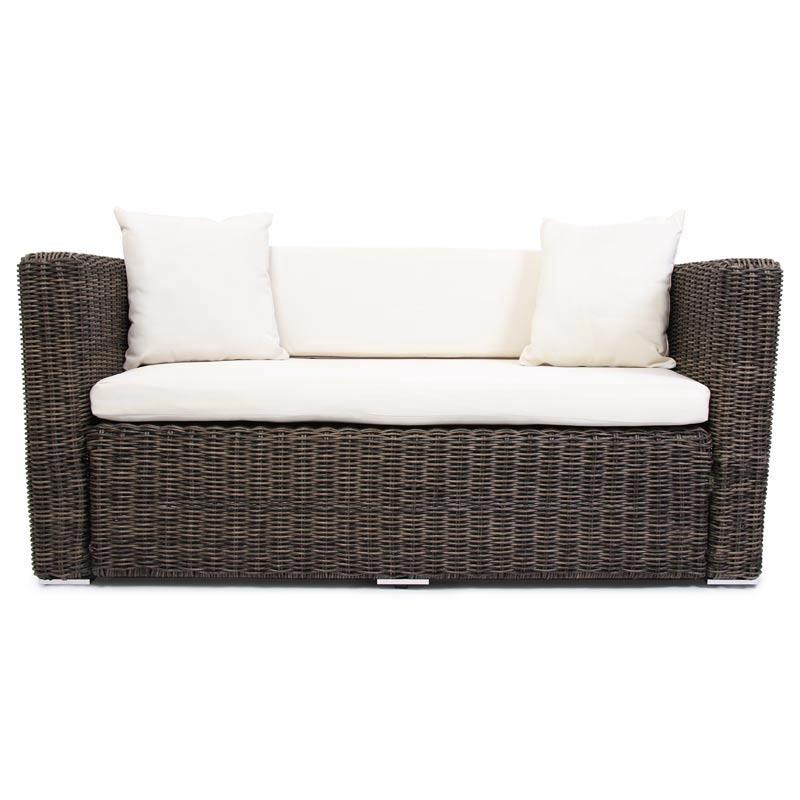 Luxus Poly-Rattan 2er Alu-Sofa Couch RomV naturgrau | eBay