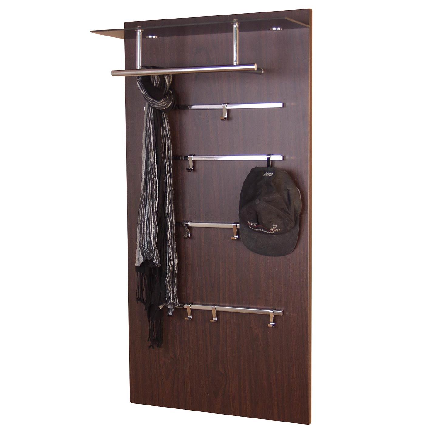 Garderobenpaneel h72 wandgarderobe garderobe kleiderhaken for Garderobe 60 cm