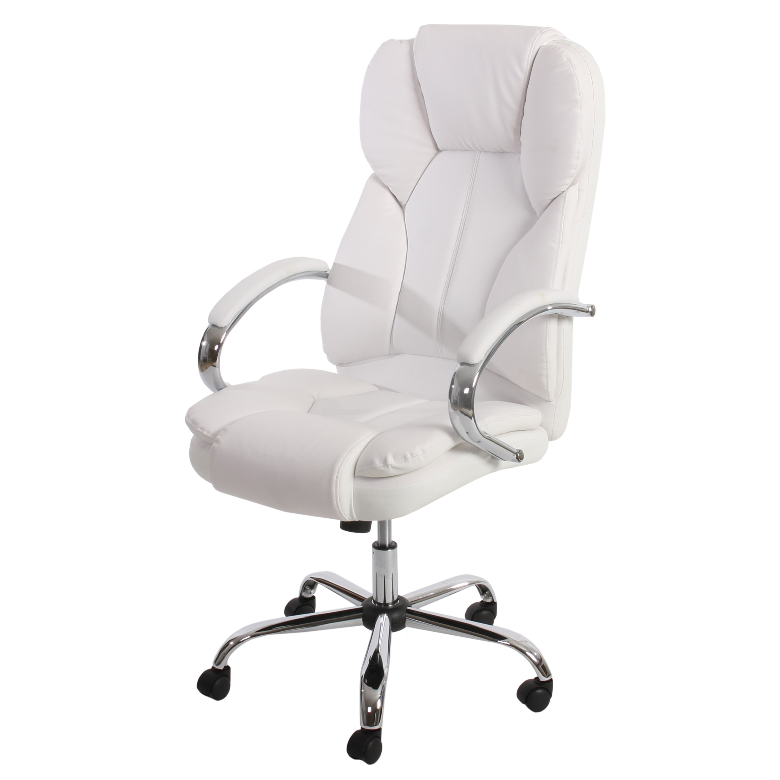 fauteuil de bureau pro kansas xxl pivotant charge 150kg similicuir blanc ebay. Black Bedroom Furniture Sets. Home Design Ideas