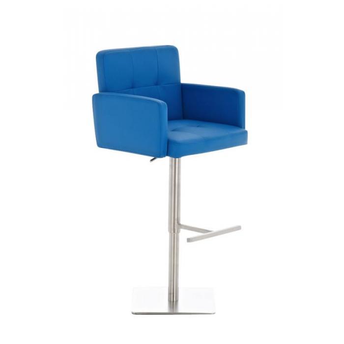 Barhocker Blau cp143 barstuhl kunstleder blau