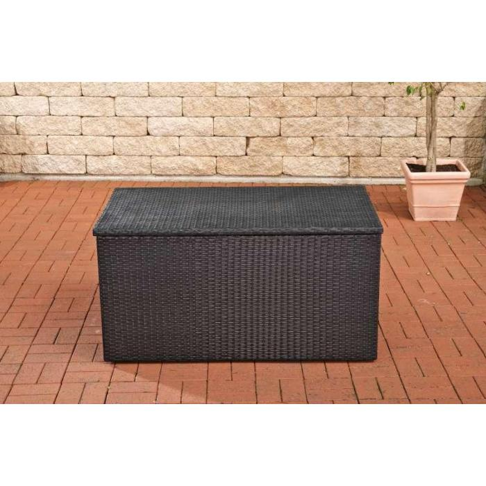 auflagenbox kissenbox gartentruhe m polyrattan schwarz. Black Bedroom Furniture Sets. Home Design Ideas