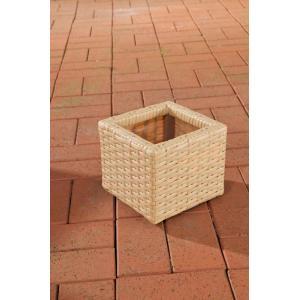 poly rattan blumenk bel cp001 blumentopf 17x20x20 cm sand. Black Bedroom Furniture Sets. Home Design Ideas