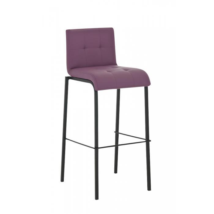 barhocker cp123 barstuhl kunstleder gestell schwarz lila. Black Bedroom Furniture Sets. Home Design Ideas