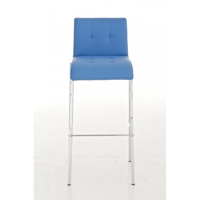 barhocker cp123 barstuhl kunstleder gestell chrom blau. Black Bedroom Furniture Sets. Home Design Ideas
