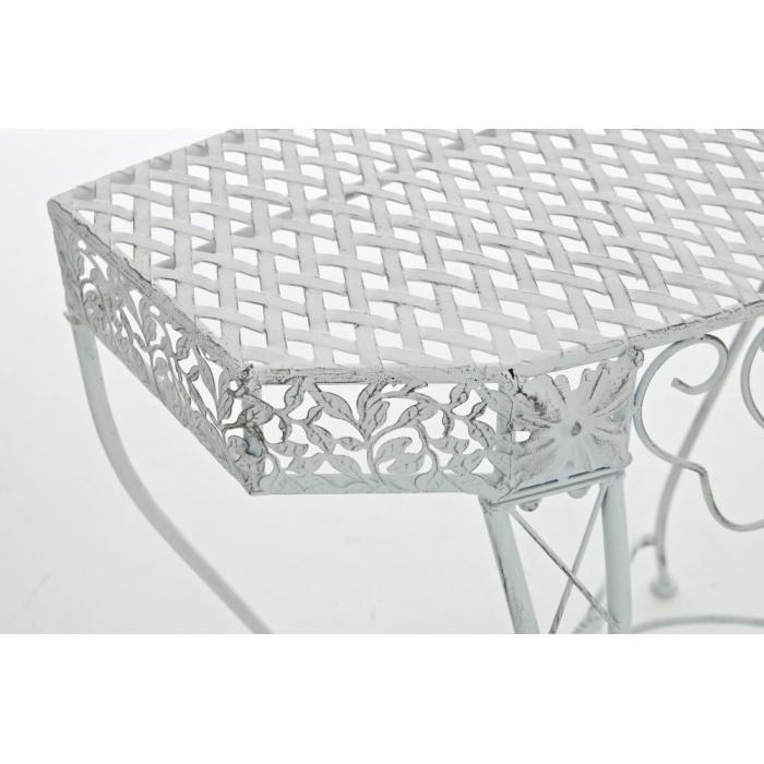 blumentisch navan gartentisch tisch metall antik wei. Black Bedroom Furniture Sets. Home Design Ideas