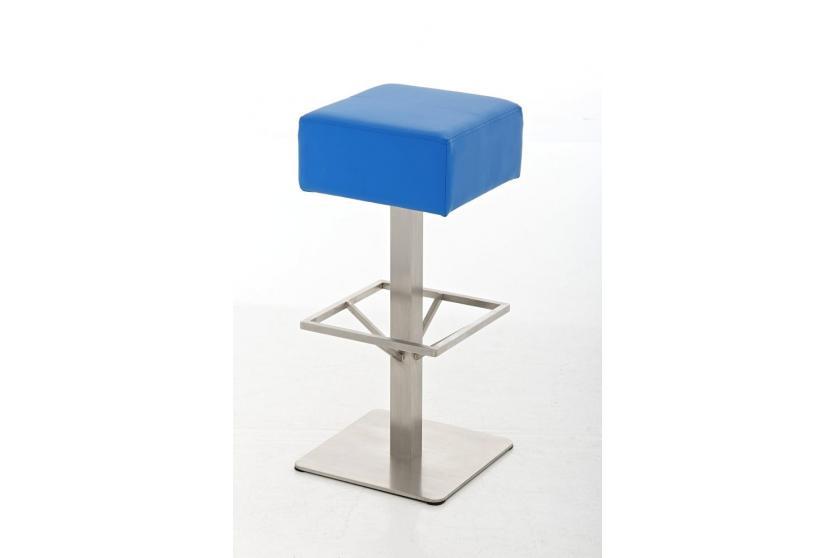 Barhocker cp139 barstuhl kunstleder 85cm blau for Barhocker 85 cm