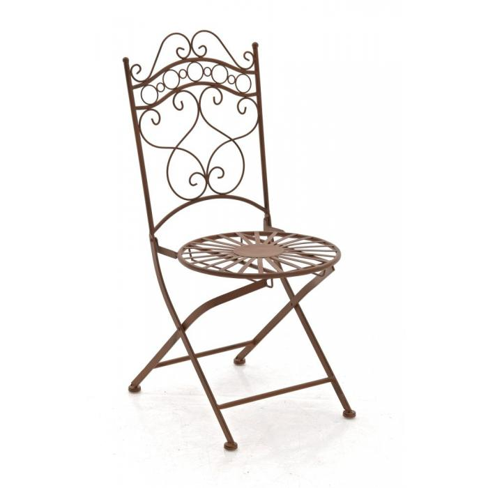 Klappstuhl holz antik  Gartenstuhl CP569, Bistrostuhl Klappstuhl, Metall ~ antik-braun