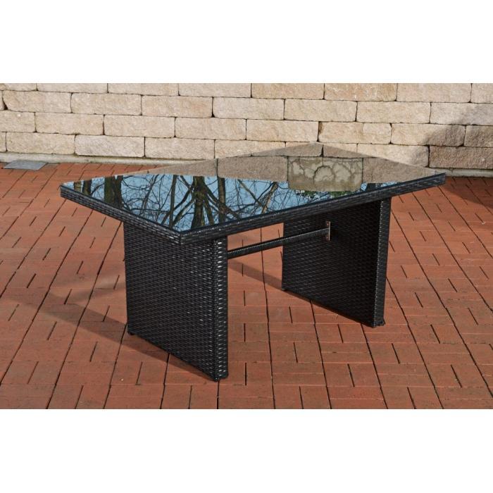 Poly rattan gartentisch cp314 tisch esszimmertisch schwarz for Billiger tisch
