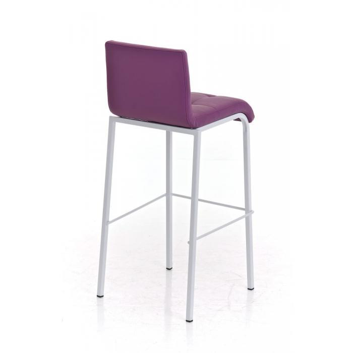 barhocker cp123 barstuhl kunstleder gestell wei lila. Black Bedroom Furniture Sets. Home Design Ideas