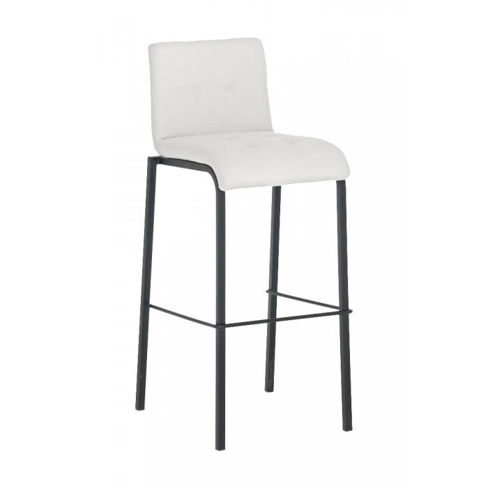 barhocker cp123 barstuhl textil gestell schwarz wei. Black Bedroom Furniture Sets. Home Design Ideas