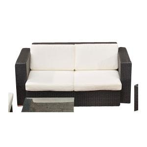 2er sofa cp044 2 sitzer poly rattan schwarz. Black Bedroom Furniture Sets. Home Design Ideas