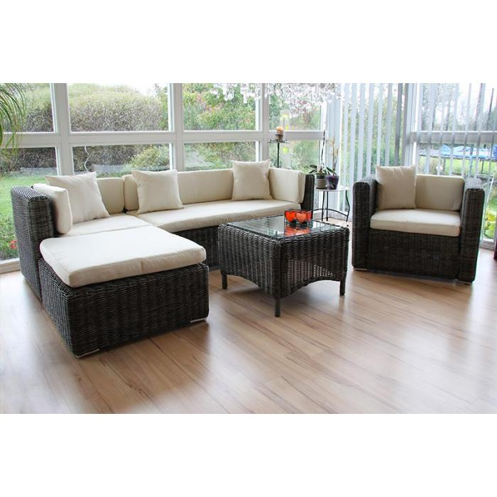 luxus poly rattan alu sofa garnitur romv 2 2 sessel. Black Bedroom Furniture Sets. Home Design Ideas