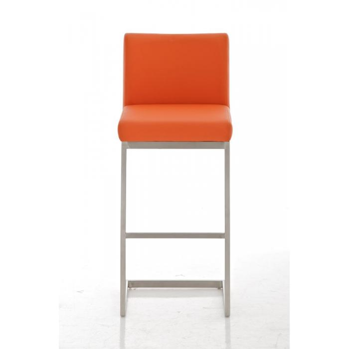 Barhocker cp178 barstuhl kunstleder orange for Barhocker orange