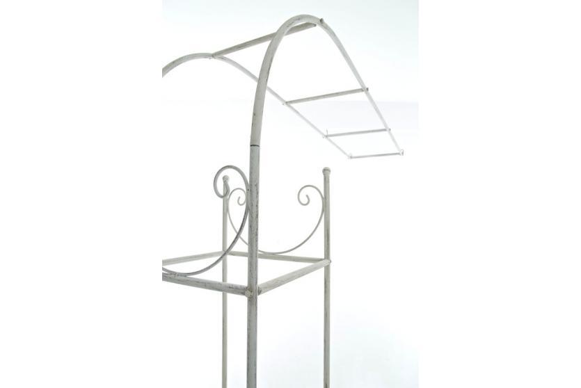 wandrankhilfe cp080 rankhilfe rankgitter eisen 141cm antik wei. Black Bedroom Furniture Sets. Home Design Ideas