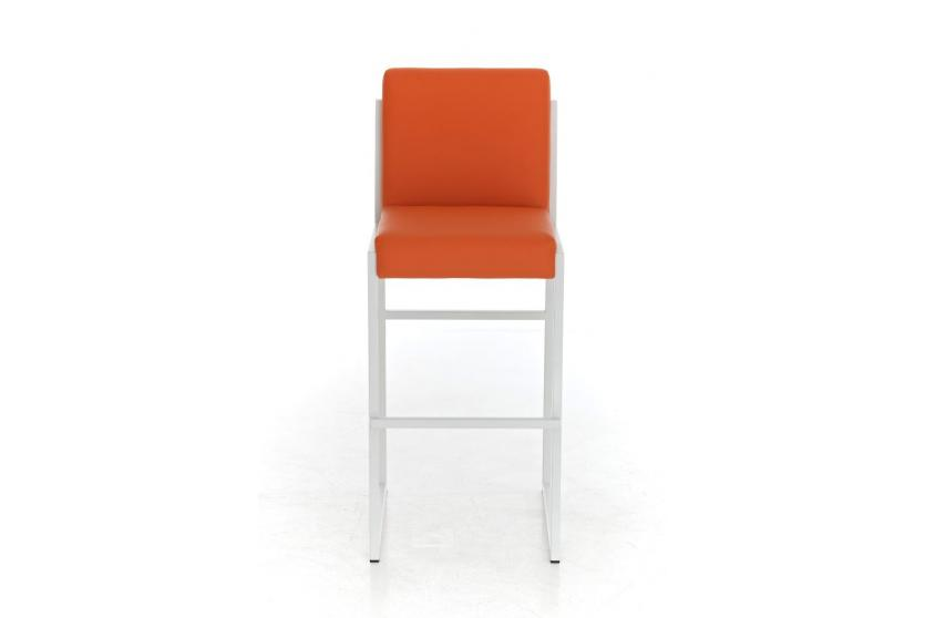 Barhocker cp192 barstuhl gestell wei orange for Barhocker gestell