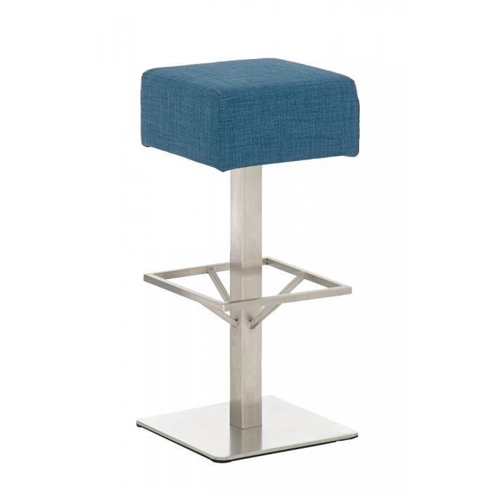 barhocker cp139 barstuhl stoff 85cm blau. Black Bedroom Furniture Sets. Home Design Ideas