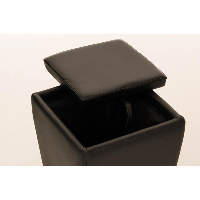 Sitzhocker cp212 hocker mit stauraum schwarz for Sitzhocker mit stauraum