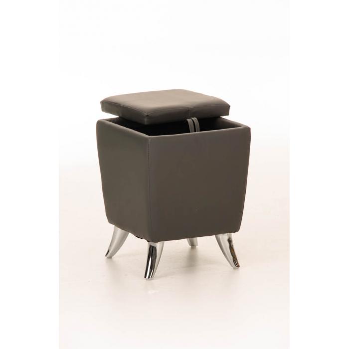 sitzhocker cp212 hocker mit stauraum grau. Black Bedroom Furniture Sets. Home Design Ideas