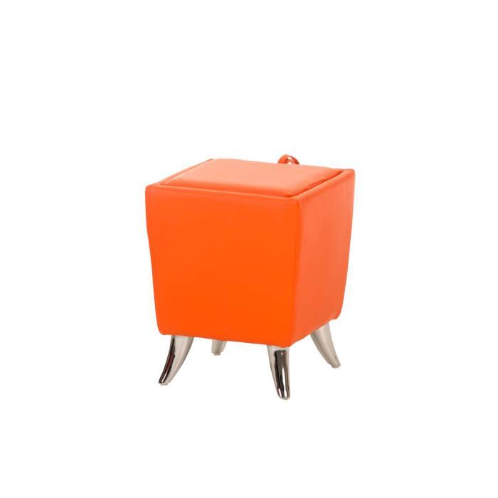 sitzhocker cp212 hocker mit stauraum orange. Black Bedroom Furniture Sets. Home Design Ideas