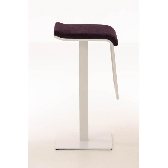 barhocker cp156 barstuhl gestell wei 78cm textil lila. Black Bedroom Furniture Sets. Home Design Ideas