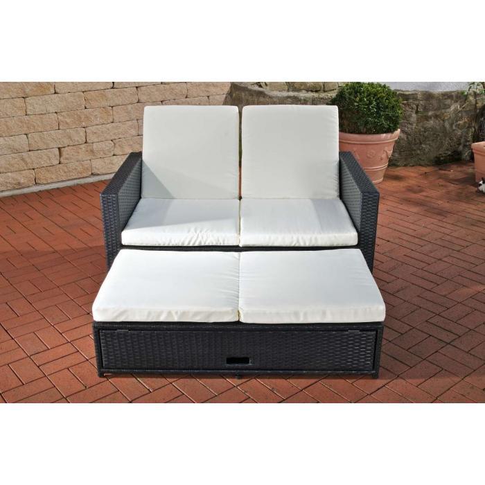 2er sofa cp041 2 sitzer poly rattan schwarz. Black Bedroom Furniture Sets. Home Design Ideas