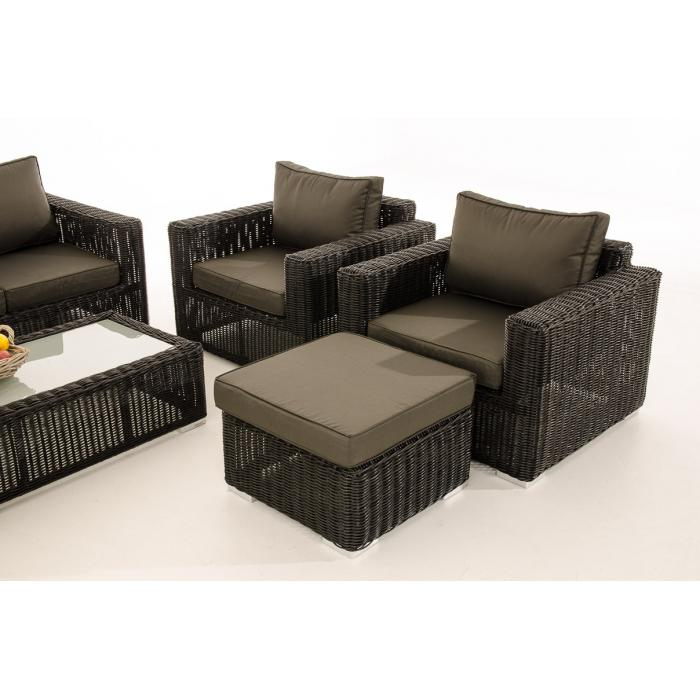 3 1 1 gartengarnitur cp053 sitzgruppe lounge garnitur poly rattan kissen anthrazit schwarz. Black Bedroom Furniture Sets. Home Design Ideas