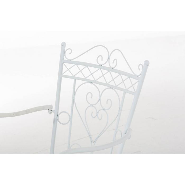 Gartenstuhl Cp333 Bistrostuhl Stuhl Metall Weiss