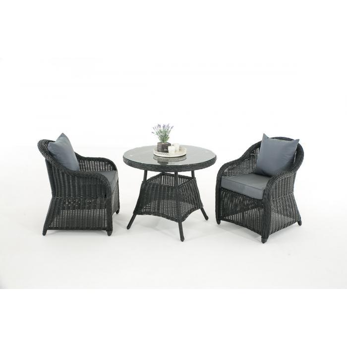 Garten garnitur cp063 sitzgruppe lounge garnitur poly rattan kissen eisengrau schwarz - Lounge garnitur garten ...