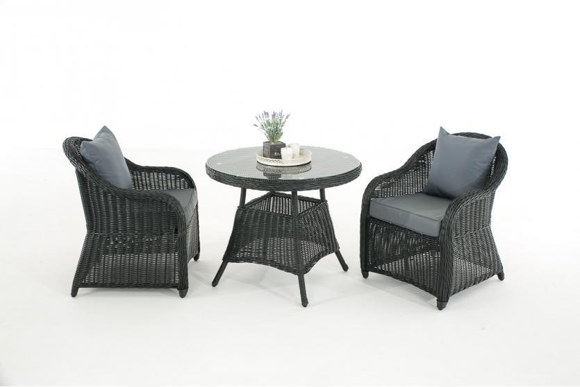 garten garnitur cp063 sitzgruppe lounge garnitur poly rattan kissen eisengrau schwarz. Black Bedroom Furniture Sets. Home Design Ideas