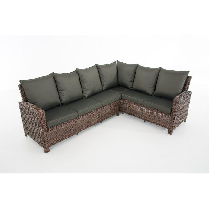 sofa garnitur cp056 lounge set gartengarnitur poly rattan kissen anthrazit braun meliert. Black Bedroom Furniture Sets. Home Design Ideas