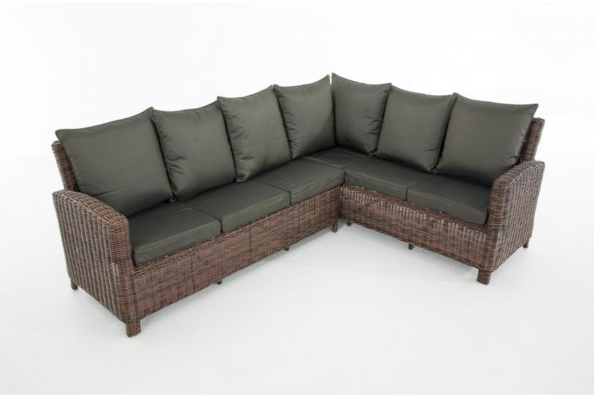 sofa garnitur cp056 lounge set gartengarnitur poly rattan kissen anthrazit braun meliert. Black Bedroom Furniture Sets. Home Design Ideas