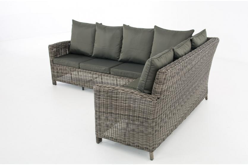 sofa garnitur cp056 lounge set gartengarnitur poly rattan kissen anthrazit grau meliert. Black Bedroom Furniture Sets. Home Design Ideas