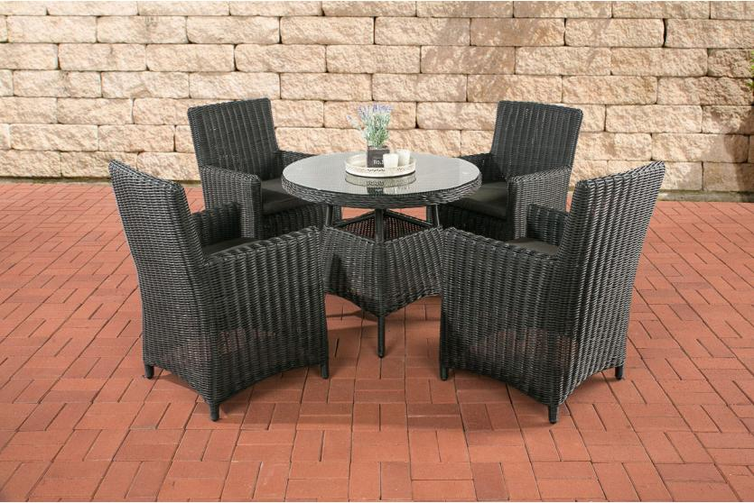 garten garnitur cp066 sitzgruppe lounge garnitur poly rattan kissen anthrazit schwarz. Black Bedroom Furniture Sets. Home Design Ideas