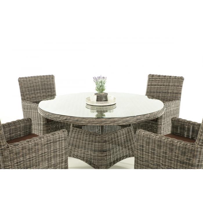 poly rattan sitzgruppe cp413 gartengarnitur lounge set grau meliert kissen terrabraun. Black Bedroom Furniture Sets. Home Design Ideas