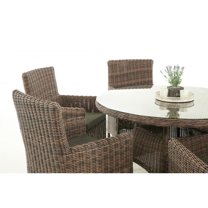 Garten garnitur cp072 sitzgruppe lounge garnitur poly rattan kissen anthrazit braun meliert - Lounge garnitur garten ...