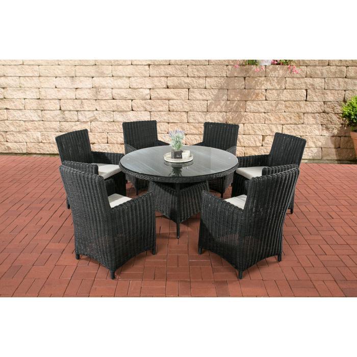 garten garnitur cp072 sitzgruppe lounge garnitur poly rattan kissen creme schwarz. Black Bedroom Furniture Sets. Home Design Ideas