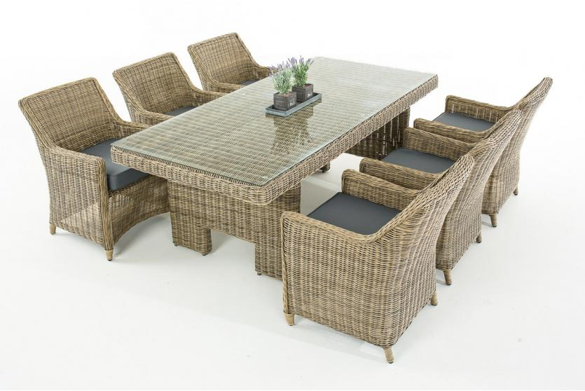 sitzgruppe cp060 sitzgarnitur poly rattan kissen eisengrau natur. Black Bedroom Furniture Sets. Home Design Ideas