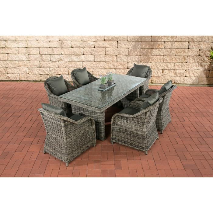 Garten-Garnitur CP071, Sitzgruppe Lounge-Garnitur Poly-Rattan ...